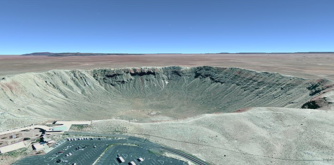 Meteor Crater Flyover Slide