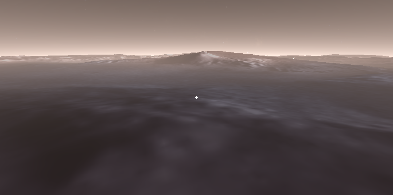 Mars - Gale Crater Flyover Slide