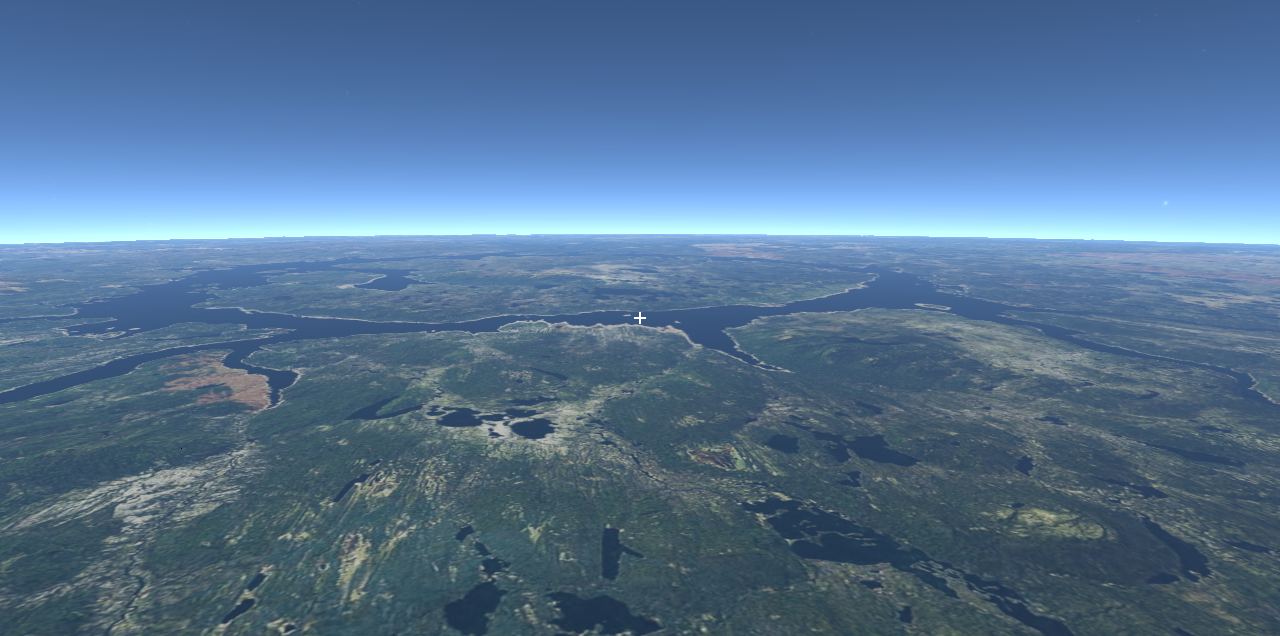 Manicouagan Crater Flyover Slide