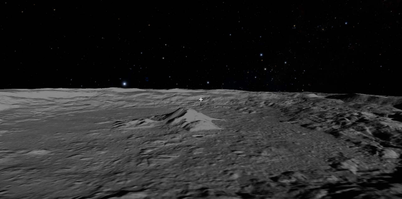 Moon - Tycho Crater Flyover Slide